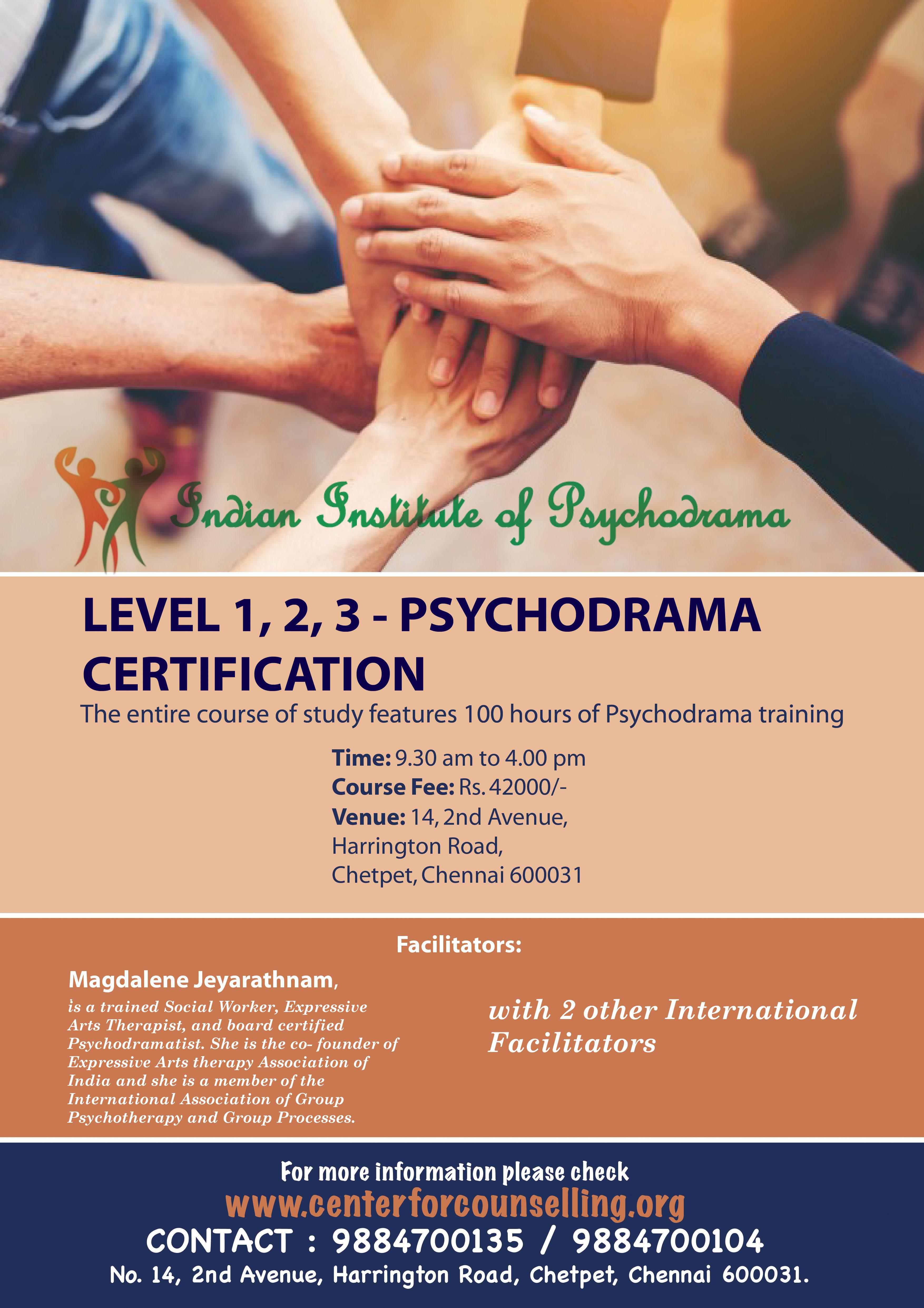 Psychodrama Level One Training Certification Programme East