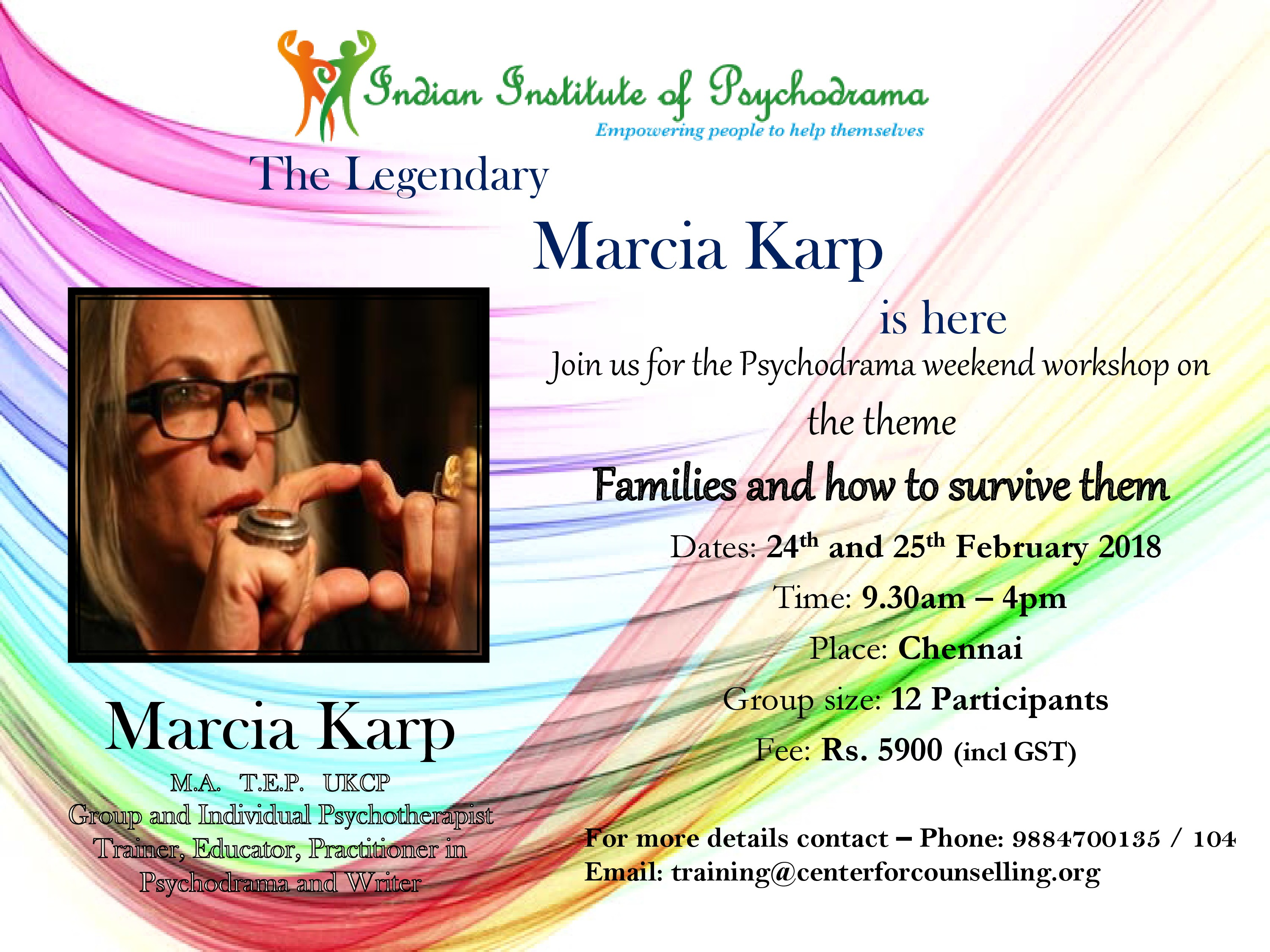Marcia Karp Is Here A Psychodrama Workshop Personal Therapy