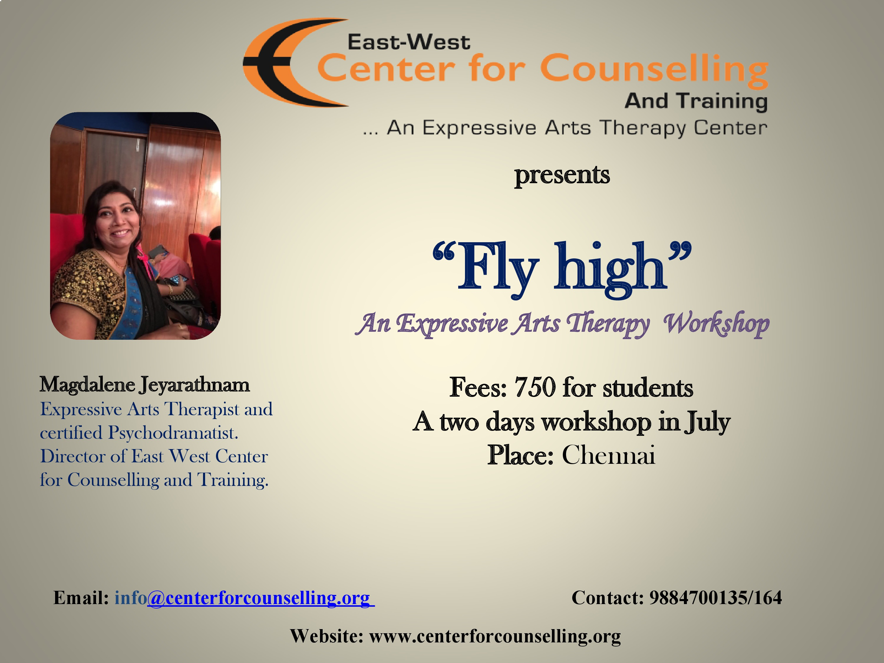 Fly High An Expressive Arts Therapy Workshop July 2018 Chennai
